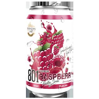 801 Premium Vodka Raspberry Soda
