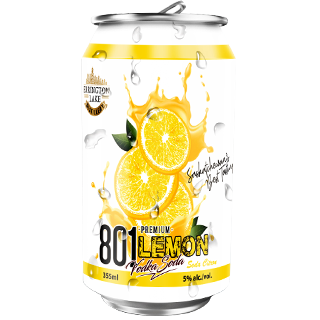 801 Premium Vodka Lemon Soda